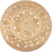 vidaXL Ukrasni pleteni tepih od jute 150 cm okrugli