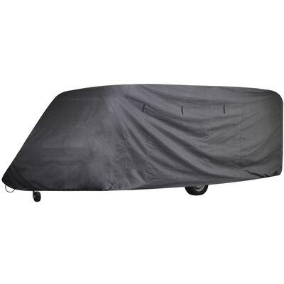 vidaXL Prekrivač za kamp-vozilo sivi L
