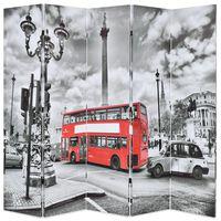 vidaXL Sklopiva sobna pregrada 200 x 170 cm slika londonskog autobusa
