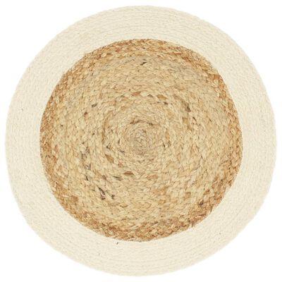 vidaXL Podmetači okrugli 6 kom obični/prirodni 38 cm od jute i pamuka