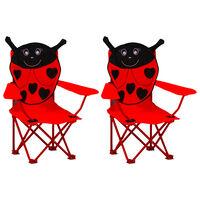vidaXL Dječje vrtne stolice od tkanine 2 kom crvene