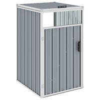 vidaXL Spremište za kantu za smeće sivo 72 x 81 x 121 cm čelično