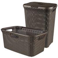 Curver košare za rublje Style smeđe 105 L 240684
