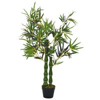 vidaXL Umjetni bambus s posudom zeleni 110 cm