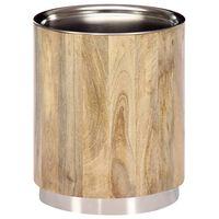 vidaXL Stolić za kavu od masivnog drva manga 38 x 45 cm
