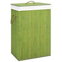 vidaXL Košara za rublje od bambusa zelena 72 L