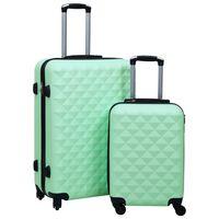 vidaXL 2-dijelni set čvrstih kovčega boja mente ABS