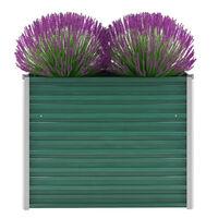 vidaXL Vrtna sadilica od pocinčanog čelika 100 x 40 x 77 cm zelena