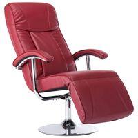 vidaXL TV fotelja od umjetne kože crvena boja vina