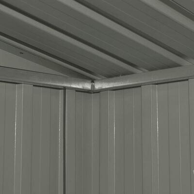 vidaXL Vrtna kućica za pohranu antracit čelična 257 x 205 x 178 cm