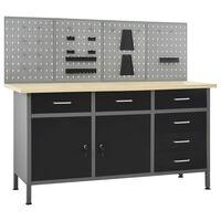 vidaXL Radni stol s četiri zidne ploče