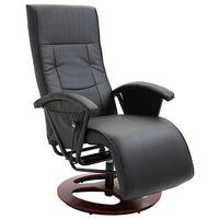 vidaXL Okretna TV fotelja od umjetne kože crna