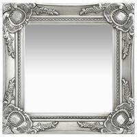 vidaXL Zidno ogledalo u baroknom stilu 40 x 40 cm srebrno