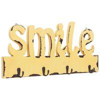 vidaXL Zidna vješalica za kapute SMILE 50 x 23 cm