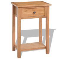 vidaXL Konzolni stol od masivne hrastovine 50 x 32 x 75 cm