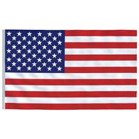 vidaXL Zastava SAD-a 90 x 150 cm