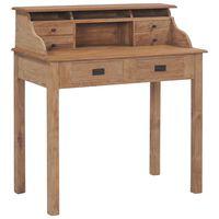 vidaXL Radni stol od masivne tikovine 90 x 50 x 100 cm