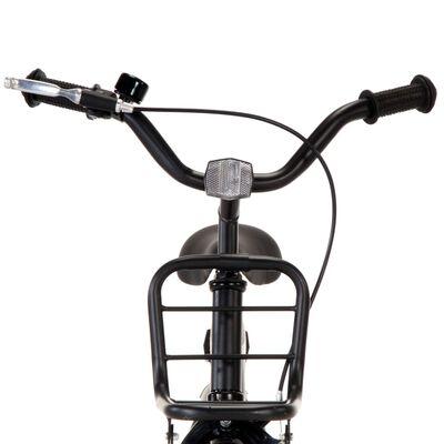 vidaXL Dječji bicikl s prednjim nosačem 12 inča crno-narančasti