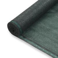 vidaXL Teniski zaslon HDPE 1,4 x 25 m zeleni