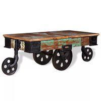 vidaXL Stolić za kavu od obnovljenog drva 90 x 45 x 35 cm