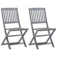 vidaXL Sklopive vrtne stolice 2 kom od masivnog bagremovog drva