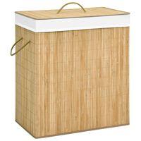 vidaXL Košara za rublje od bambusa 100 L