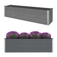 vidaXL Vrtna posuda za sadnju siva 200 x 50 x 54 cm WPC