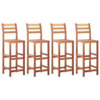 vidaXL Barske stolice 4 kom od masivnog bagremovog drva