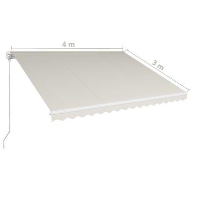 vidaXL Tenda na ručno uvlačenje 400 x 300 cm krem