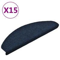 vidaXL Samoljepljivi otirači za stepenice 15 kom modri 65 x 21 x 4 cm