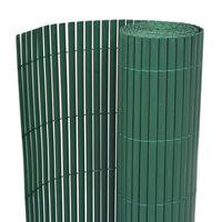vidaXL Dvostrana vrtna ograda PVC 90 x 500 cm zelena