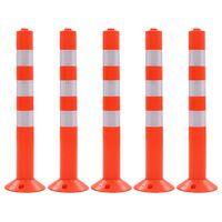 vidaXL Cestovni stupovi za kontrolu prometa 5 kom plastični 75 cm