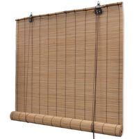 Rolo zavjesa od bambusa smeđa boja 140 x 160 cm