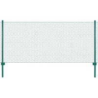 vidaXL Ograda od žičane mreže sa stupovima čelična 25 x 0,75 m zelena