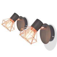 vidaXL Zidne svjetiljke s 2 LED žarulje sa žarnom niti 2 kom 8 W