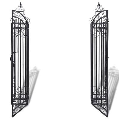 Ukrasna Vrata za Vrtnu Ogradu Kovano Željezo 122x20,5x134 cm