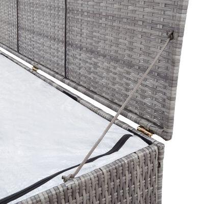 vidaXL Vrtna kutija za pohranu siva 150 x 50 x 60 cm od poliratana