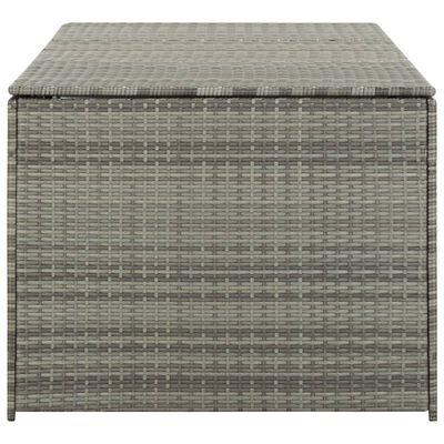 vidaXL Vrtna kutija za pohranu od poliratana 180 x 90 x 75 cm siva