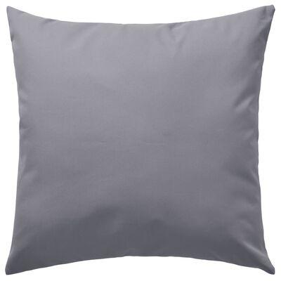 vidaXL Vrtni jastuci 4 kom 45 x 45 cm sivi