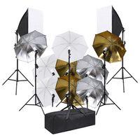 vidaXL Oprema za fotografski studio sa setom rasvjete i softboxovima