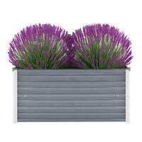 vidaXL Vrtna sadilica od pocinčanog čelika 100 x 40 x 45 cm siva