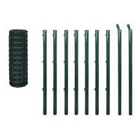 vidaXL Euro ograda 10 x 1 m čelična zelena