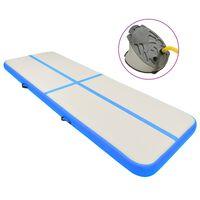 vidaXL Strunjača na napuhavanje s crpkom 500 x 100 x 20 cm PVC plava