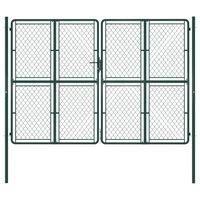 vidaXL Vrtna vrata čelična 300 x 200 cm zelena