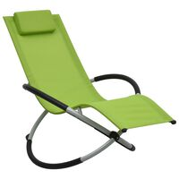 vidaXL Dječja ležaljka za sunčanje čelična zelena