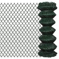 vidaXL Žičana ograda od čelika 1 x 15 m zelena