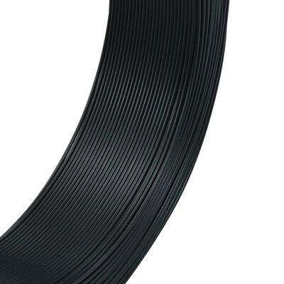 vidaXL Žica za vezanje ograde 250 m 2,3/3,8 mm čelična crno-zelena