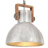 vidaXL Industrijska viseća svjetiljka 25 W srebrna okrugla 40 cm E27