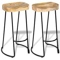 vidaXL Barske stolice od masivnog drva manga 2 kom