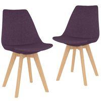 vidaXL Blagovaonske stolice od tkanine 2 kom ljubičaste